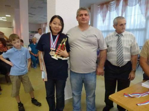 Степанида Кириллина - чемпионка России по шашкам 2011