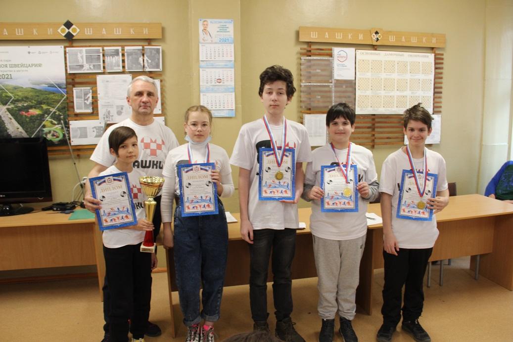 Чудо шашки 2021 команда гимназии № 2 (Саров)