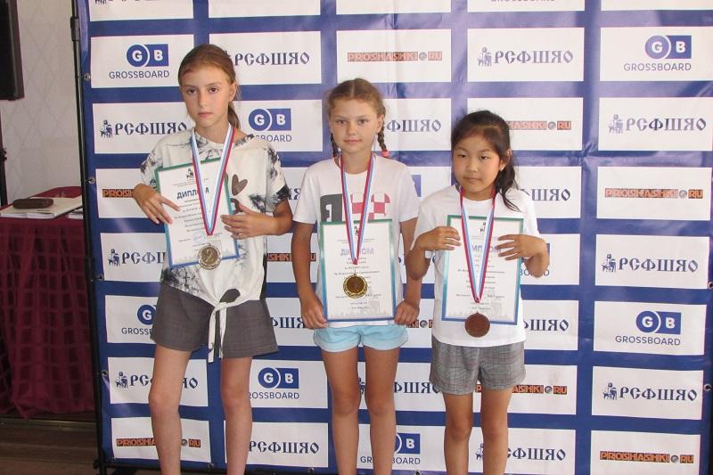 Призёры дев. 2011-2012 г. р.